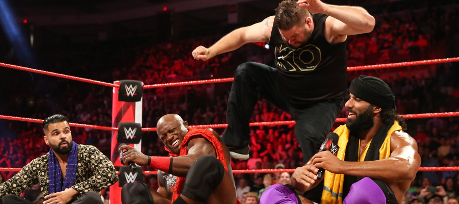 Kevin Owens Attacks Bobby Lashley on RAW