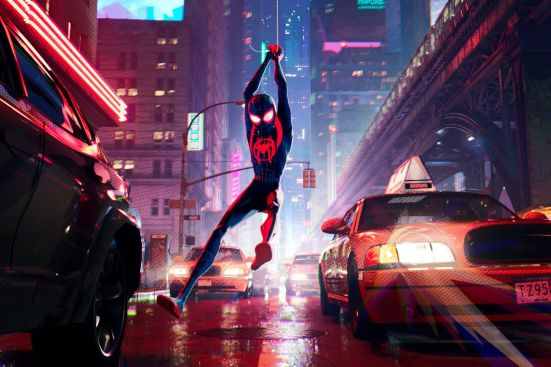 Spider-Man Into the Spider-Verse taxis