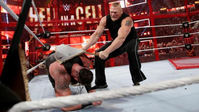 Brock resurfaces at Hell in a Cell 2018