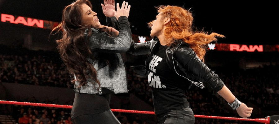 Becky Lynch punches Stephanie McMahon