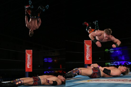 Shooting Star Press to Okada