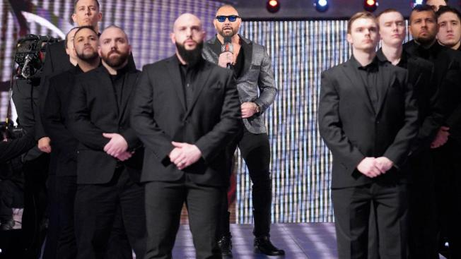 Batista surrounded by security
