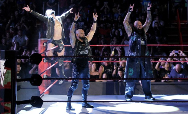 Finn Balor, Karl Anderson and Luke Gallows together as Balor Club