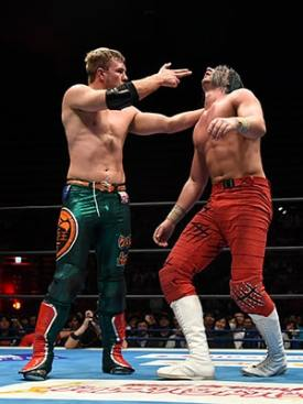 Ospreay taunts White