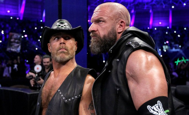 Triple H and Shawn Michaels reunited D-Generation X at WWE Crown Jewel