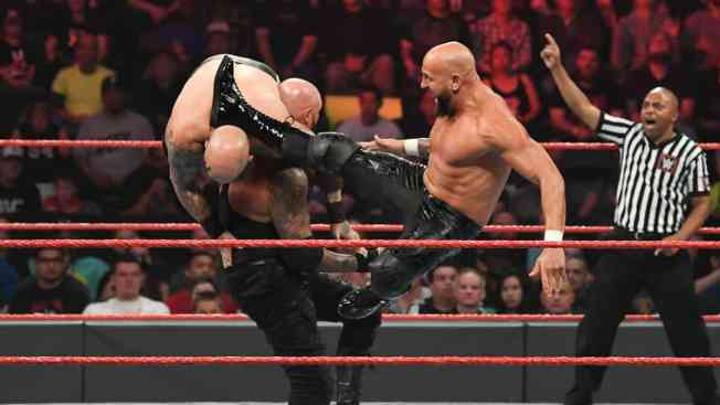 Anderson and Gallows double team Erik