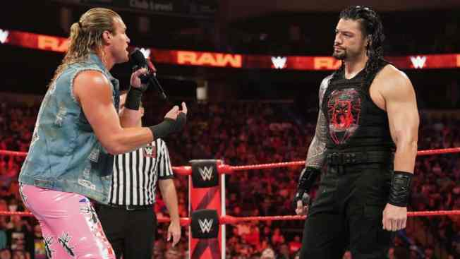 Dolph Zigger whines at Roman Reigns