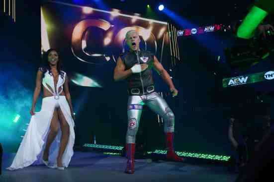 Cody and Brandi Rhodes are the first to make their entrance on Dynamite
