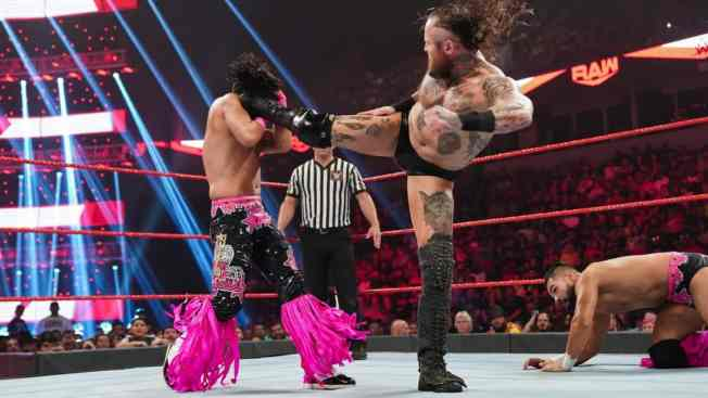 Aleister Black destroys the Singh Brothers