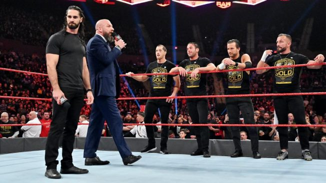 Undisputed ERA join Triple H and Seth Rollins