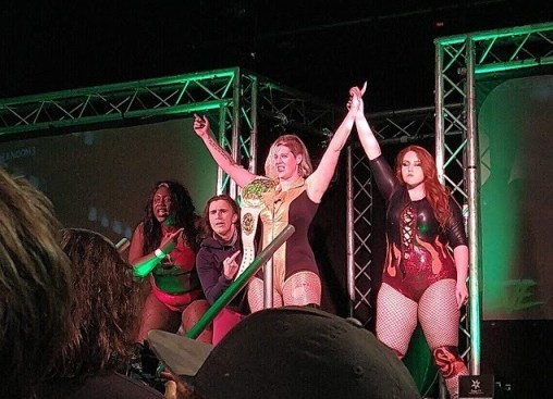 Rhia O'Reilly stands tall at Wrestle Queendom 3