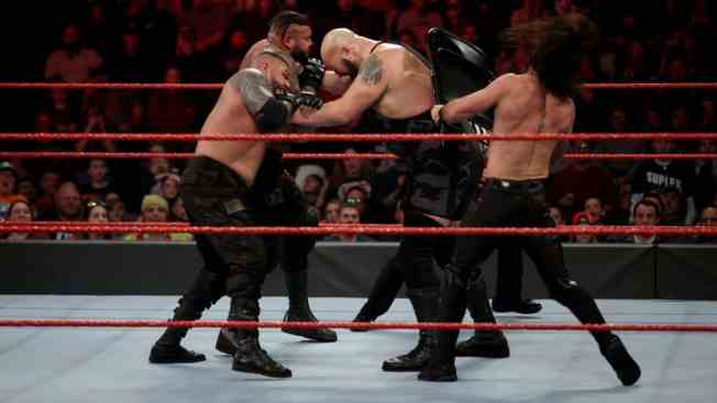 Rollins attacks Big Show with a chair to save AOP
