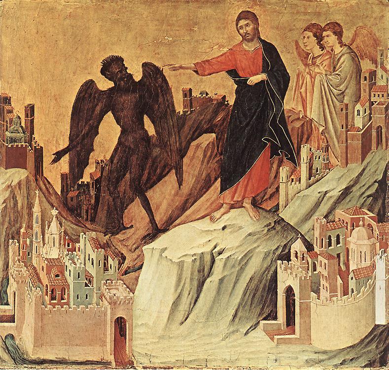 Jésus et la tentation au désert