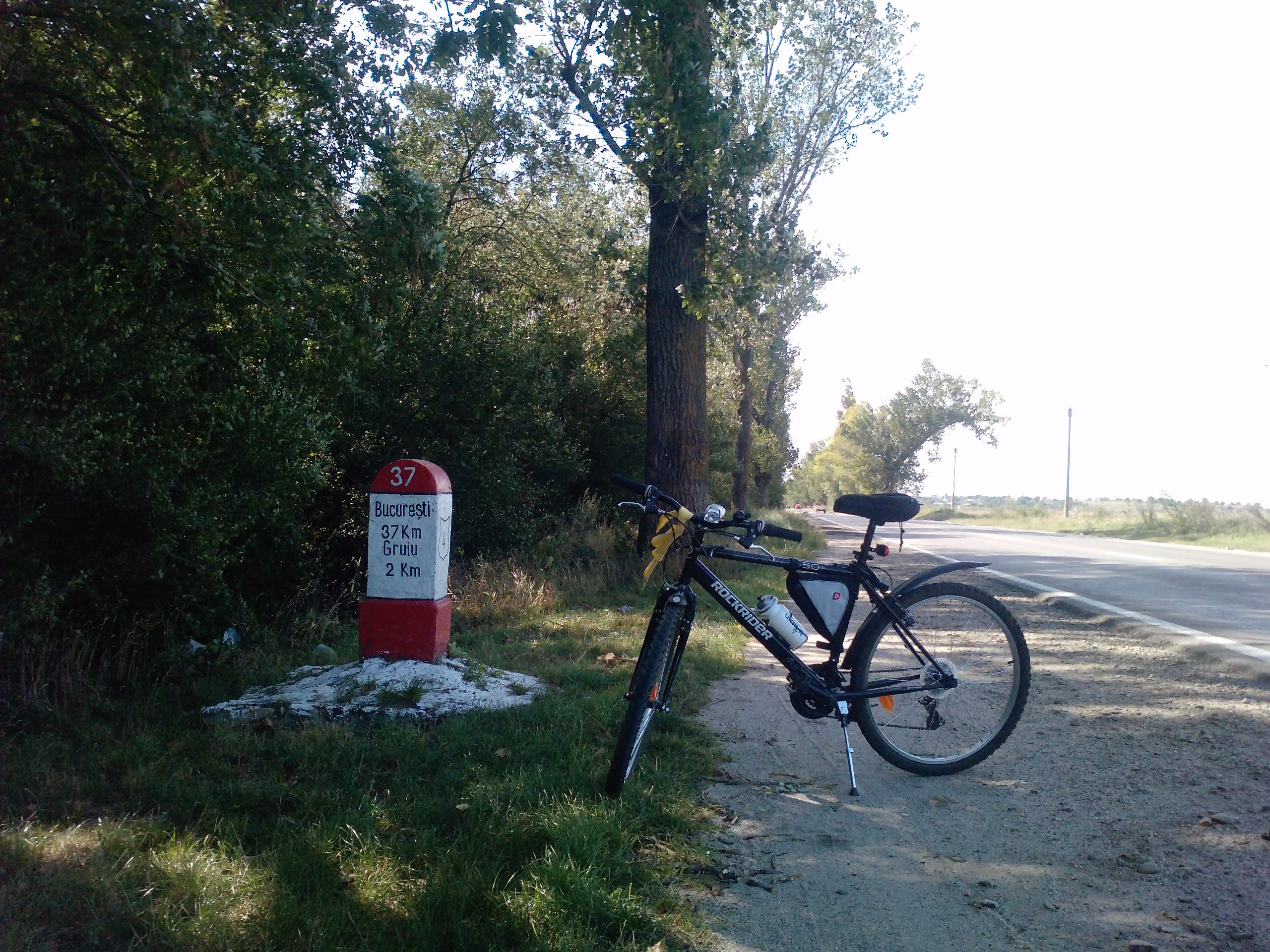 160 Km singur pe bicla - dupa pauza de la Budesti