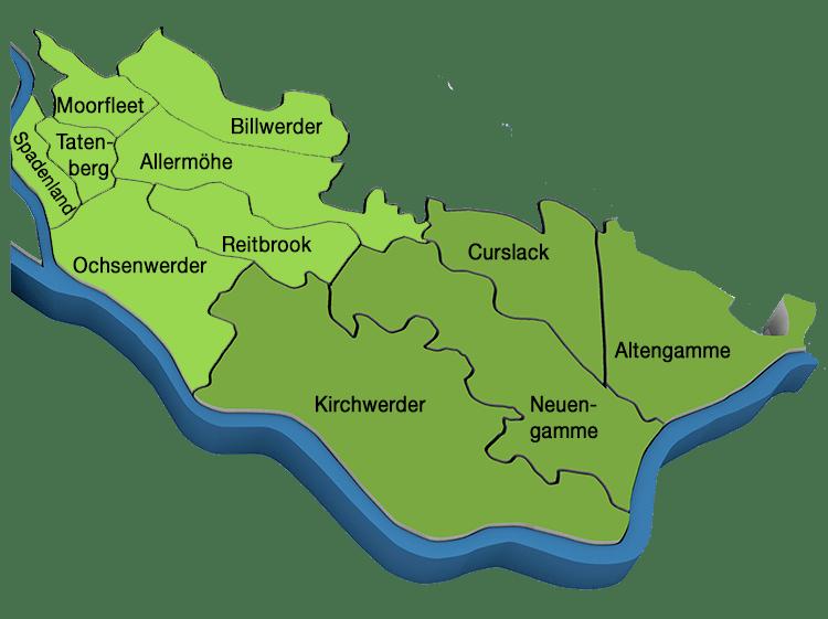 Karte Vier- und Marschlande