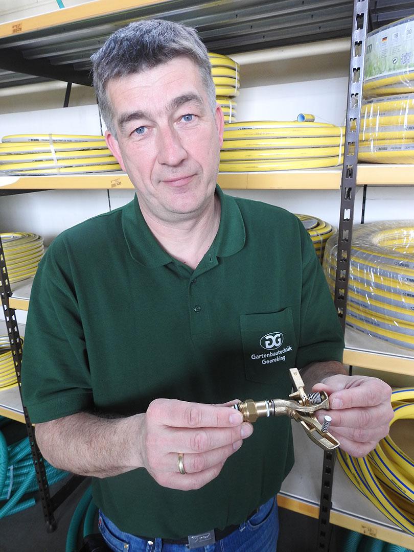 Thomas Timmann bei Geereking Gartenbautechnik