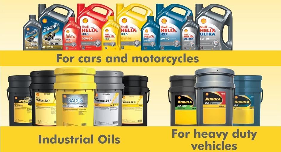 sản phẩm dầu nhớt shell