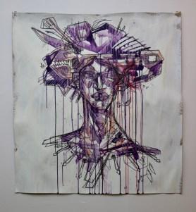Utility headdress (2020) by Marcus Hipa