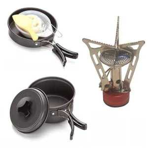 Gas Stove Set for Hiking 9 Piece