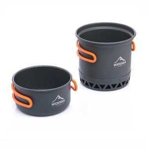 Heat Exchange Cooker Pot and Pan Set Split