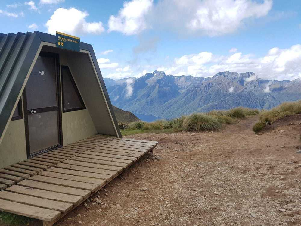 Hanging Valley Shelter on The Kepler Track NZ