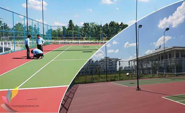 Báo Giá Thi Công Sửa Chữa Vết Nứt Sân Tennis