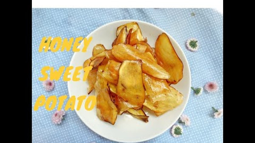 cách nấu khoai lang mật - HONEY SWEET POTATO l 5p làm món KHOAI LANG MẬT ONG giòn rụm l Thèm gì làm nấy #5(có phụ đề)