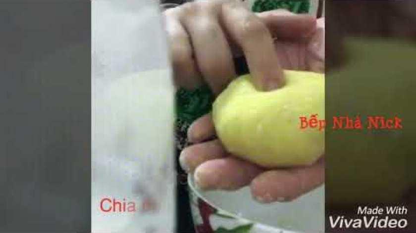 cách nấu khoai lang cho bé ăn dặm - Ăn dặm: Bánh Khoai Lang Nhân Phô Mai Cho Bé Yêu