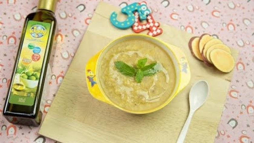 cách nấu khoai lang cho bé ăn dặm - Cách nấu cháo gan gà khoai lang - Cooky TV