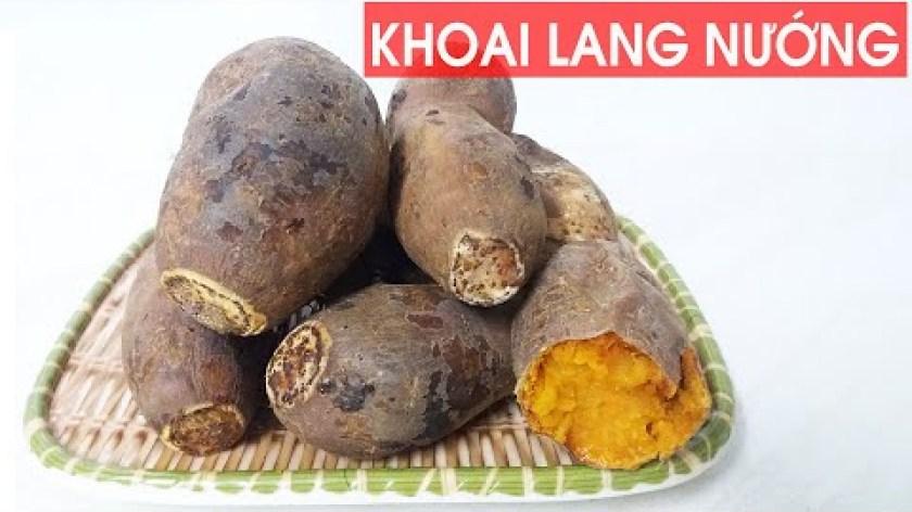hướng dẫn nướng khoai lang bằng lò nướng - Cách nướng khoai lang bằng lò nướng đơn giản thơm ngon   Grilled sweet Potato   Hồng Vân