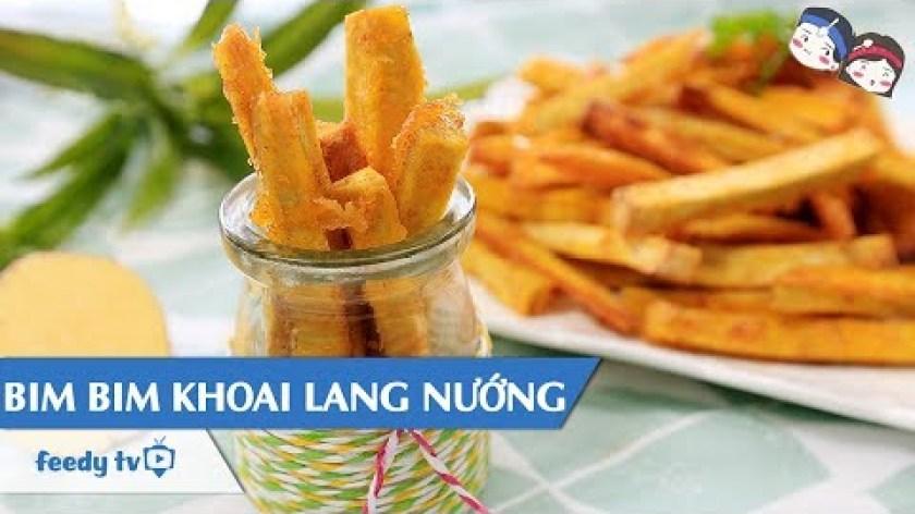 hướng dẫn nướng khoai lang bằng lò nướng - Hướng dẫn cách làm Bim bim khoai lang nướng với #Feedy