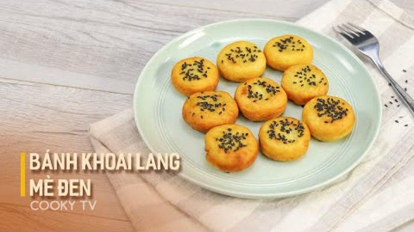 hướng dẫn làm bánh khoai lang - Bánh Khoai Lang Mè Đen - Cách Làm Đơn Giản Tại Nhà | Cooky TV