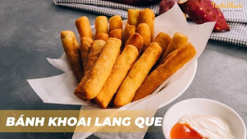 hướng dẫn làm bánh khoai lang - CÁCH LÀM BÁNH KHOAI LANG QUE | TasteShare