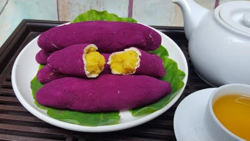 hướng dẫn làm bánh khoai lang - Cách Làm Bánh Khoai Lang Tím Hàn Quốc Đơn Giản Tại Nhà | Góc Bếp Nhỏ