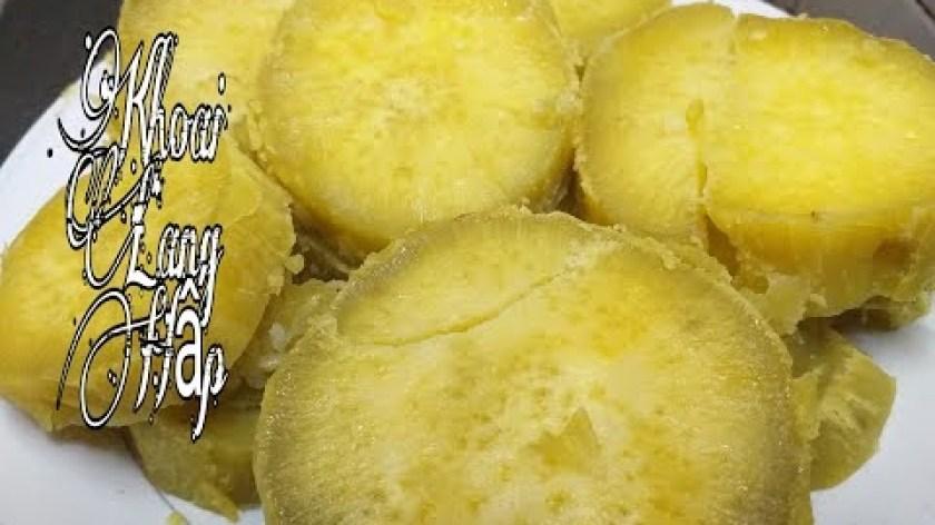 hướng dẫn luộc khoai lang ngon - Cách làm khoai lang hấp -  món  khoai lang hấp nồi cơm điện đơn giản cực ngon