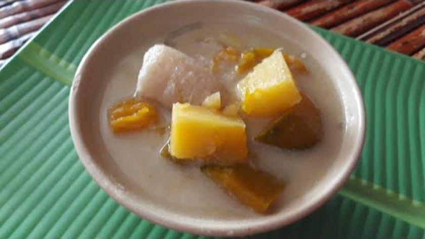 cách nấu khoai lang - Cách nấu CHÈ CHUỐI CHƯNG (Bí - Khoai lang hầm dừa) ngọt ngào hấp dẫn