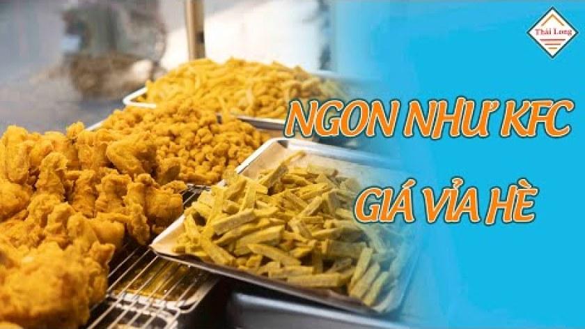 hướng dẫn làm khoai lang lắc - Điểm đến SIÊU hấp dẫn cho các FAN gà rán - khoai lang lắc!!! | Máy Thái Long