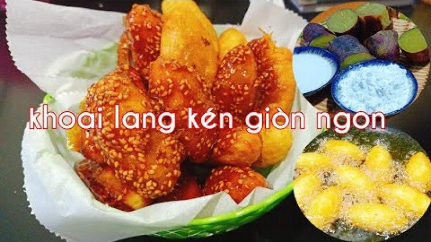 hướng dẫn luộc khoai lang ngon - Món chay   Cách làm khoai lang kén giòn rụm   How to make Vietnamese sweet potato cake.