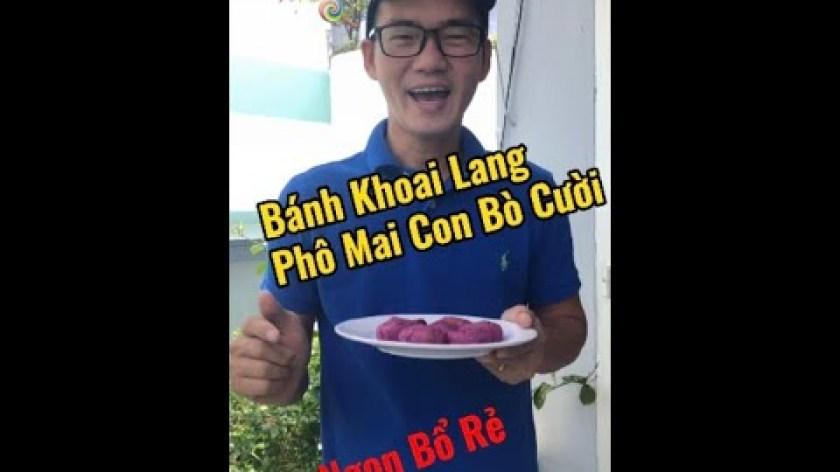 hướng dẫn làm bánh khoai lang - Bánh Khoai Lang Phô Mai Con Bò Cười hehehe