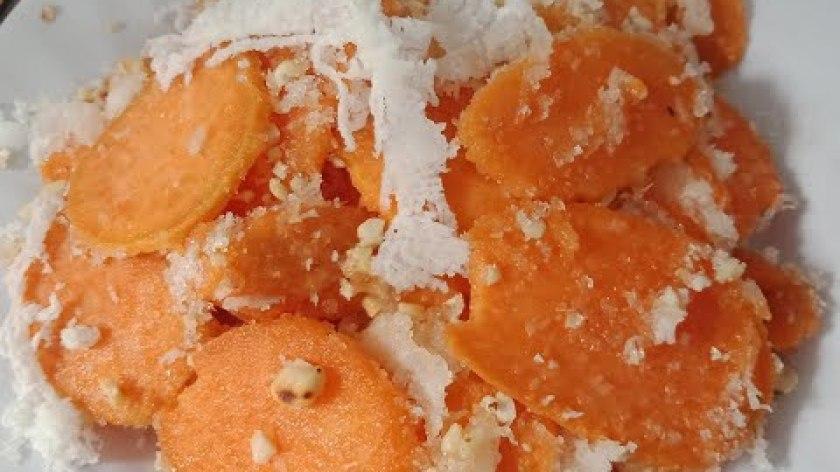 hướng dẫn làm khoai lang chiên - Cách làm khoai lang trộn dừa lạ mắt, ngon ngất ngây