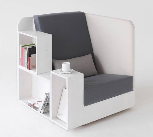 Chair-and--bookstorage