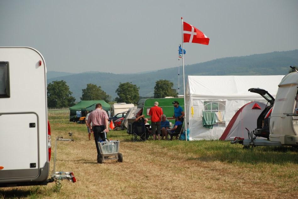 Det danske telt med OZ5TG, OZ9ZZ, OZ1FF, OZ2OE, OZ5N & OZ2M