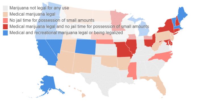 legalizirana marihuana u SAD-u