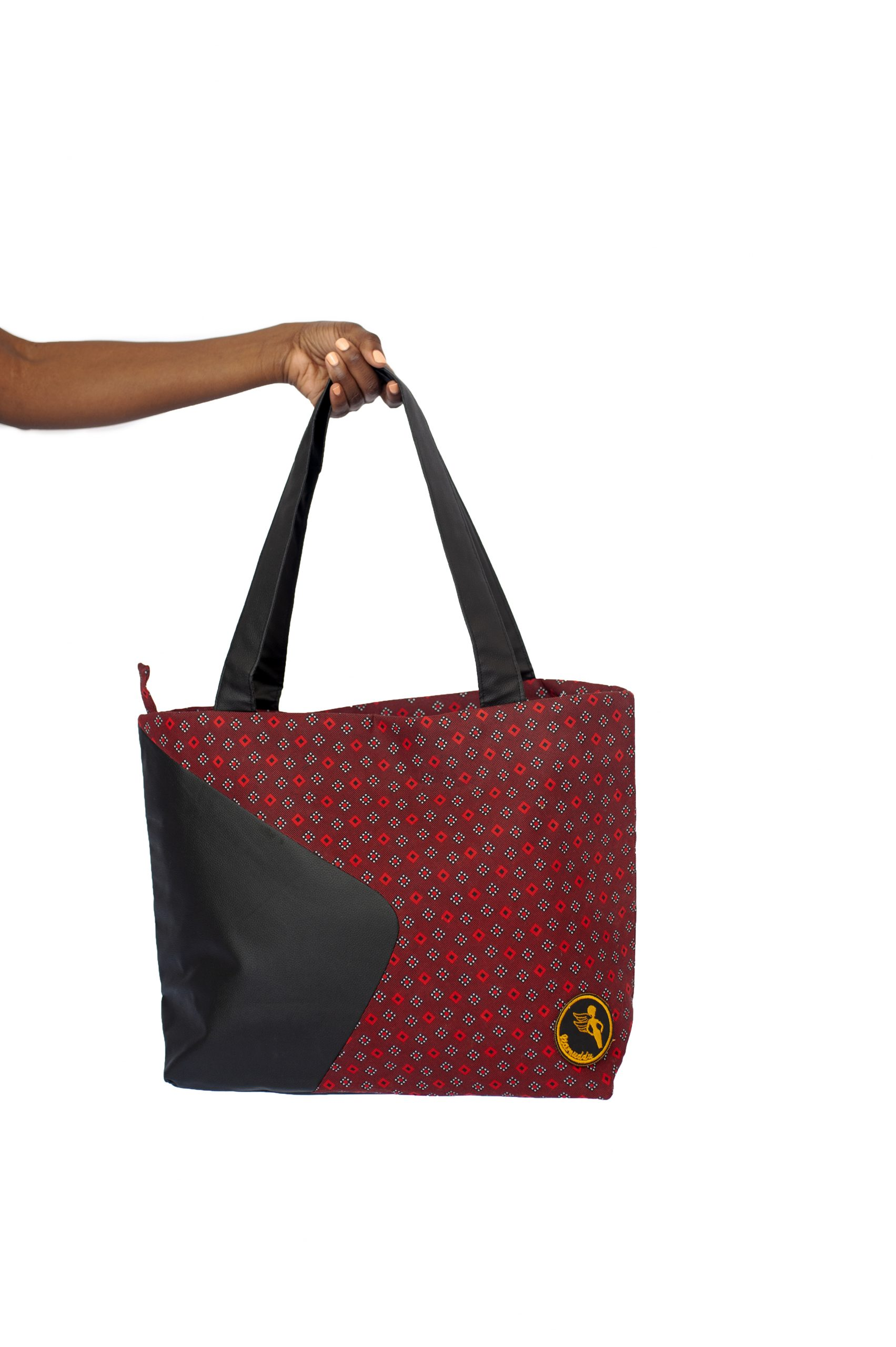 Namuddu Shweshwe Tote Bag – Red Black