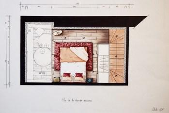 Plan chambre mezzanine