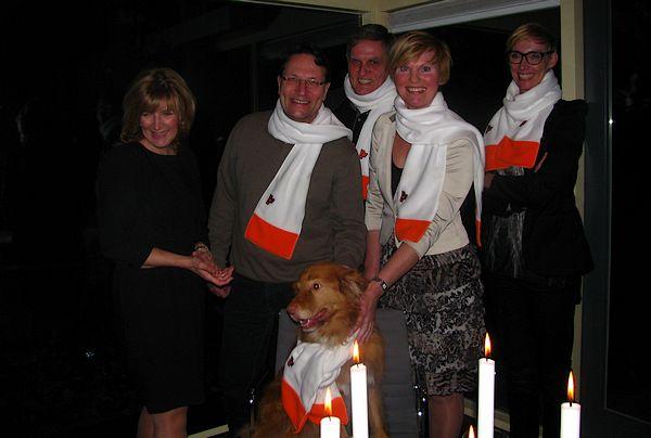 Onze ploeg tijdens de nieuwjaarsborrel (v.l.n.r.: Esther Verhagen, Hugo Weidema, Henk van Bruggen, Désirée Meijsen en Daniëlle Terpstra)