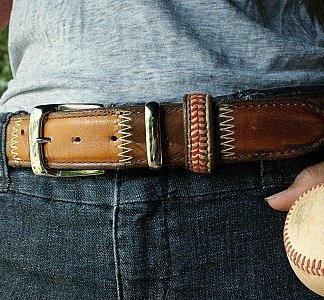 Baseball Glove Leather Belt