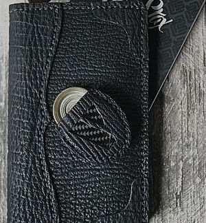 black leather field notes cover with matching coin pouch (EDC)