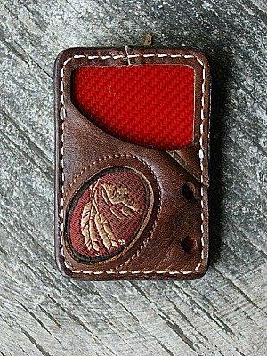 front pocket vvault wallet made from Nokona baseball glove leather