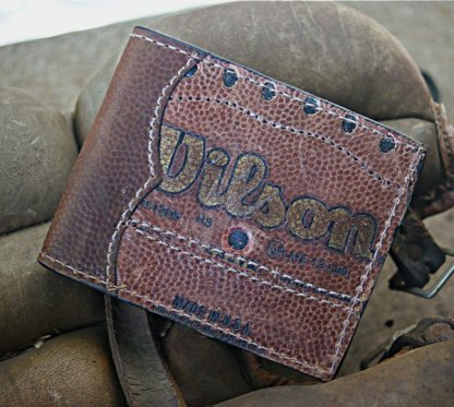 Bi Fold Wallet Made From Football Leather